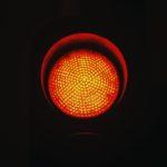 verkeerslicht op rood